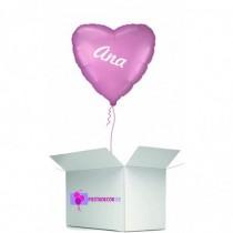 Globo en caja sorpresa corazon rosa golden