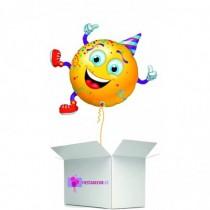 Globo en caja sorpresa emoticono fiesta