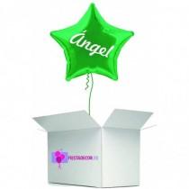 Globo en caja sorpresa estrella verde