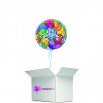 Globo en caja sorpresa feliz cumpleaños