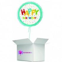 Globo en caja sorpresa happy birday colores