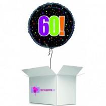Globo en caja sorpresa redondo 60 cumpleaños