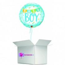 Globo en caja sorpresa redondo baby boy