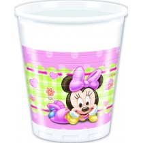 VASOS PLASTICO 200ml BABY MINNIE
