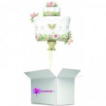 Globo en caja sorpresa tarta boda