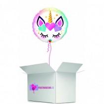 Globo en caja sorpresa unicornio