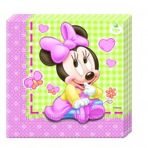 SERVILLETAS 33x33 BABY MINNIE