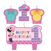 Vela Set Minnie 1 Año