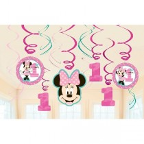 Decor. Colg. Espiral Minnie 1 Año