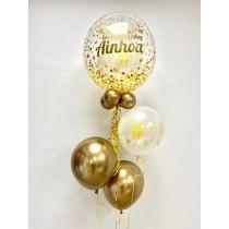 Ramo de globo burbuja Comunión Oro