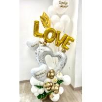 Ramo De Globos Bouquet Love