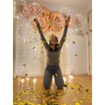 Decoracion de globos con luces