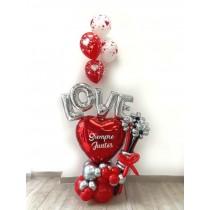 Ramo globos LOVE San Valentín