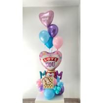 Ramo globos MOM día de la madre bombones Ferrero