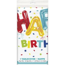 mantel del plástico  tamaño 137,16 x 274,32 cm Happy Balloon