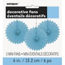 3 unidades decoracion de papel nido de abeja de 6 pulgadas / 15,24 cm azul bebé