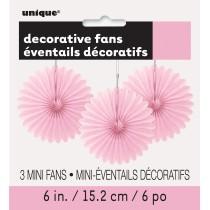 3 unidades decoracion de papel nido de abeja de 6 pulgadas / 15,24 cm rosa claro