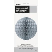 decoracion de papel nido de abeja de 8 pulgadas / 20,32 cm plata