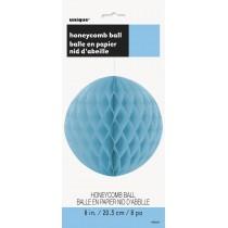decoracion de papel nido de abeja de 8 pulgadas / 20,32 cm azul bebé