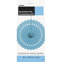 abanico de papel de 16 pulgadas / 40,64 cm azul bebé