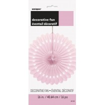 abanico de papel de 16 pulgadas / 40,64 cm rosa claro