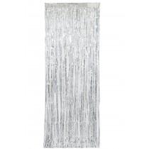 cortina plateada 91 cm x 243 cm