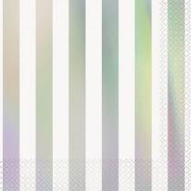 16 servilletas grandes iridiscentes