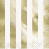 16 servilletas grandes estampado oro metalizado