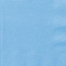 20 servilletas grandes azul celeste