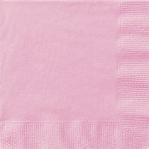 20 servilletas grandes rosa claro
