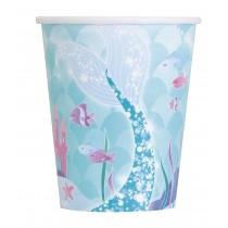 8 vasos de carton de carton  de 26,6 cl sirena