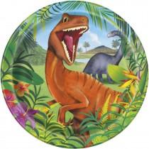 8 unidades platos de 9 pulgadas / 22,86 cm dinosaurio