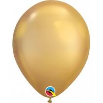 bolsa de 10 unidades globo de látex Chrome de 11 pulgadas (27,9 cm) - oro