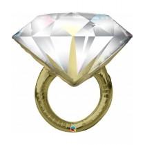globo metalizado de 37 pulgadas / 94 cm anillo de boda