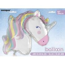 globo metalizado empacado de 42 pulgadas / 106,68 cm unicornio