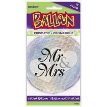 globo metalizado empacado de 18 pulgadas / 45,72 cm Mr& Mrs