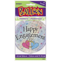 globo metalizado empacado de 18 pulgadas / 45,72 cm Happy Engagment