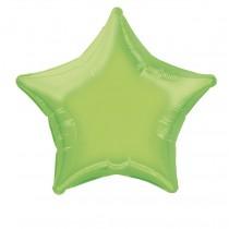 globo metalizado empacado 20 pulgadas/ 50,80 cm forma estrella verde lima