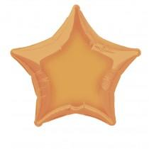 globo metalizado a granel 20 pulgadas/ 50,80 cm forma estrella naranja