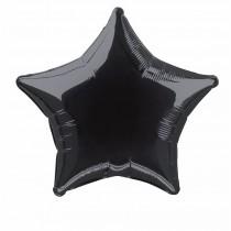 globo metalizado empacado 20 pulgadas/ 50,80 cm forma estrella negro