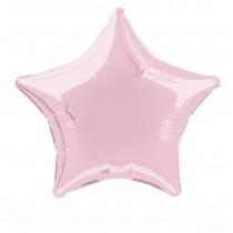 globo metalizado empacado 20 pulgadas/ 50,80 cm forma estrella rosa pastel