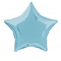 globo metalizado empacado 20 pulgadas/ 50,80 cm forma estrella azul bebé