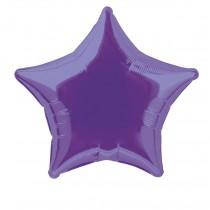 globo metalizado empacado 20 pulgadas/ 50,80 cm forma estrella purpura