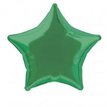 globo metalizado empacado 20 pulgadas/ 50,80 cm forma estrella verde