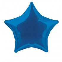 globo metalizado empacado 20 pulgadas/ 50,80 cm forma estrella azul marino