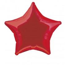 globo metalizado empacado 20 pulgadas/ 50,80 cm forma estrella rojo