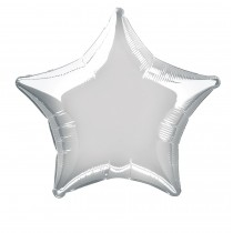 globo metalizado empacado 20 pulgadas/ 50,80 cm forma estrella plata