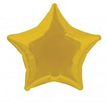 globo metalizado empacado 20 pulgadas/ 50,80 cm forma estrella oro