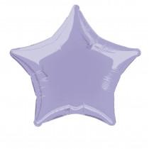 globo metalizado empacado 20 pulgadas/ 50,80 cm forma estrella lavanda