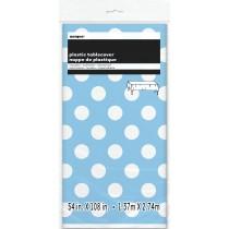 mantel del plástico  tamaño 137,16 x 274,32 cm azul celeste